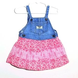 Oshkosh Denim Floral Overall Jumper 18m
